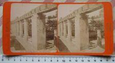Ercolano: Giardino della Casa di Argo- Stereophoto G. Brogi n.5240 - '800 Rara