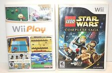 LEGO Star Wars: The Complete Saga Nintendo Wii PLAY Bundle 2 Games Untested