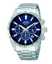 BRAND NEW Lorus Men's Stainless Steel Chronograph Date Watch RT321CX9