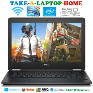 """Dell Windows10 Laptop Gaming Or Office Webcam Fast SSD 12.5"""" HD Screen - Boxed"""