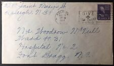 Raleigh, North Carolina - postmarked, Mar 20, 1947 with #807 Prexie tied NC