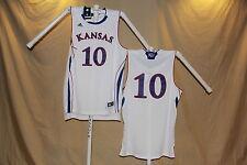 KANSAS JAYHAWKS  Adidas sewn #10  Basketball JERSEY   XL   NwT  $75 retail  wht