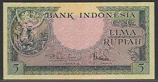 Indonesia 5 Rupiah 1957 - 2 letters, UNC-, Pick 49 / H-239b