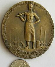 Romanian - 1900-1925 Resita Iron Plant Industry by Weinberger bronze Medal