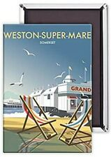 Weston-Super-Mare Deck Chairs / Pier fridge magnet   (se)