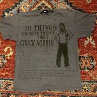 Vintage Chuck Norris Cotton Short Sleeve T Shirt, Size Large, Karate Master 2008