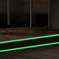 Luminous band baseboard Wall Sticker decal Glow in the dark DIY Strip Stick Fy