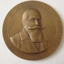 Romania Romanian Early Royal Bronze Desk Medal King 1906 Fair Exhibition !