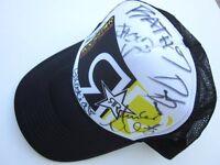 Vintage Wakeboard Stars Signed Rockstar Energy Trucker Snap Back Cap Hat RARE
