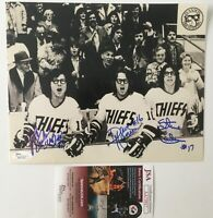 Hanson Brothers Signed Autographed 8x10 Photo JSA Certified Slapshot