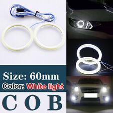 60mm White COB Angel Eye Halo Car LED Light Ring Headlight DRL Lamp DC 12V