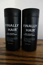HAIR LOSS CONCEALER FINALLY HAIR BUILDING FIBERS GIANT 55g FILLER 2PAK 1.94 OZ.