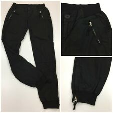 JAMES PERSE Womens sz 26 Black Zip Pockets & Ankle Jogger Pants