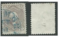 Scott 70, 24c Washington, F-VF, BLUE TOWN CANCEL, SOUND, NICE