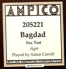 AMPICO (ReCut) Ager BAGDAD Adam Carroll 205221 Player Piano Roll