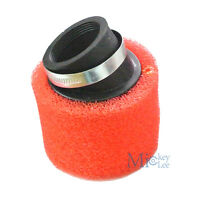 110cc 125cc 42mm Double Foam Peformance Angled Air Filter For Pit Dirt Bike Red