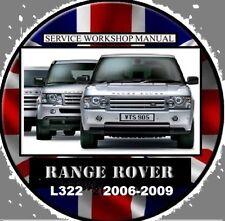 RANGE ROVER L322 2006-2009 3.6TD 4.2V8 4.4V8 WORKSHOP REPAIR SERVICE MANUAL CD