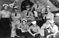 WW2 Picture Photo Crew of PBY-5A that found Japanese fleet's in Midway 1426