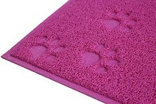 Pink Square PVC Placemat Dog Puppy Pet Cat Dish Bowl Food Water Mat Wipe Clean