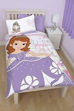 SINGLE BED DUVET COVER SET SOFIA ACADEMY FLORAL HEARTS PINK LILAC RABBIT CASTLE
