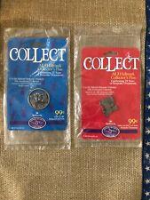 1998 Hallmark Lapel Pin 1 & 3 TOYS & TIN LOCOMOTIVE  25th Anniversary Collection
