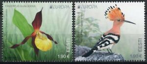 Estonia Europa Stamps 2021 MNH Endangered Natl Wildlife Orchids Birds 2v Set