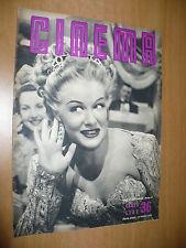 RIVISTA CINEMA NUOVA SERIE N.36 15 APRILE 1950 BETTY HUTTON MARGOT GRAHAME FELIX