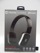 iHome iB86BC Foldable Bluetooth Wireless Headphones w Mic EVEN ANSWER THE PHONE