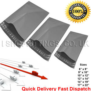 Strong Grey Mailing Postal Bags Poly Postage Self Saleable in All Sizes