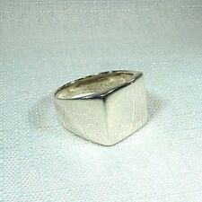 14 mm 925 Sterling Silver Modern Style Ring US (10) AU (T 1/2)