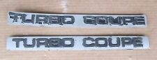 1987 - 1988 Ford Thunderbird Turbo Coupe Door Emblem Pair (2) Used Orig 87 88