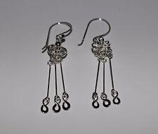925 Sterling Silver Infinity Extravagant Chandelier Hook Drop Dangle Earrings