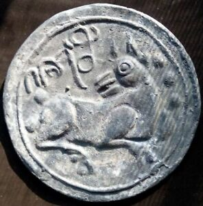 18th circa.--SOUTHEAST ASIA--ANCIENT COIN---BIG EYE DOG---dia. 63 mm. heavy coin