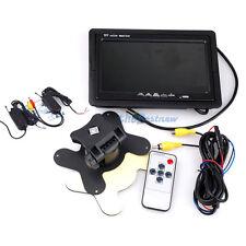 "7""TFT Wireless LCD Monitor W/O Car Rear View Parking Backup Camera Receiver NE#"
