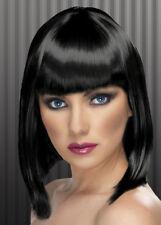 Ladies 20s Black Blunt Bobbed Wig