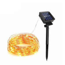 5/10m RGB LED Solar Lichterschlauch Lichtschlauch mit Lichterkette Außen Garten