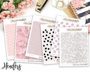 Patterned Header Collection #1 Stickers