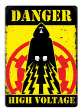 Metal Wall Sign - Danger-High-Voltage