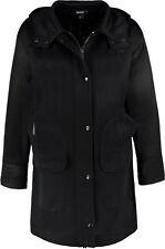 NWT DKNY DONNA KARAN SzM PERFORATED HOODED COAT BLACK $595