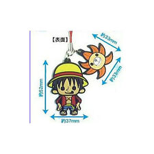 One Piece New World Luffy Rubber Cell Phone Strap Licensed NEW