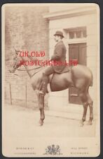 Cabinet Photo, Man on a Horse by Byrne & Co,  Photographer,  Richmond, Surrey