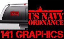 US Navy AO Aviation ORDNANCE Aircraft Carrier Flight Deck Veteran Car Decal