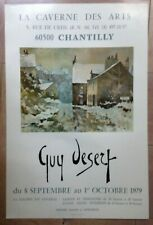 Guy desert 1979 original exhibition poster the cave arts chantilly