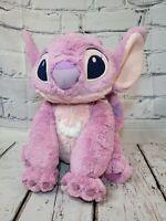 """Disney Store Lilo & Stitch Large angel Pink / Purple Soft Plush Toy 14"""""""