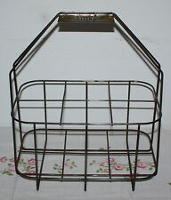 Vintage French Wine Bottle Carrier Metal Caddy Caddie Brand French Country