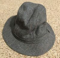 Vtg THINSULATE Thermal Insulated Gray Fedora Trilby Hat Sz Medium Made in USA