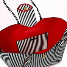 Lulu Guinness Sofia Cupids Bow Tote Bag. Black & White