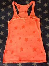 Maison Scotch Top Sterne ⭐️ Neon Pink Koralle Orange Größe 3 M L Shirt ❤️ Blog