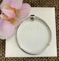 """Pandora Barrel Clasp Bracelet Sterling Silver Size 6.7"""" / 17 cm,#590702HV"""