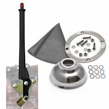 Chevy Hot Rod 16 Black Transmission Mount E-Brake Grey Boot Silver Ring and Cap
